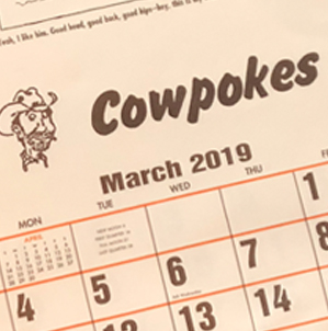 2019 Cowpokes© Calendar Available!